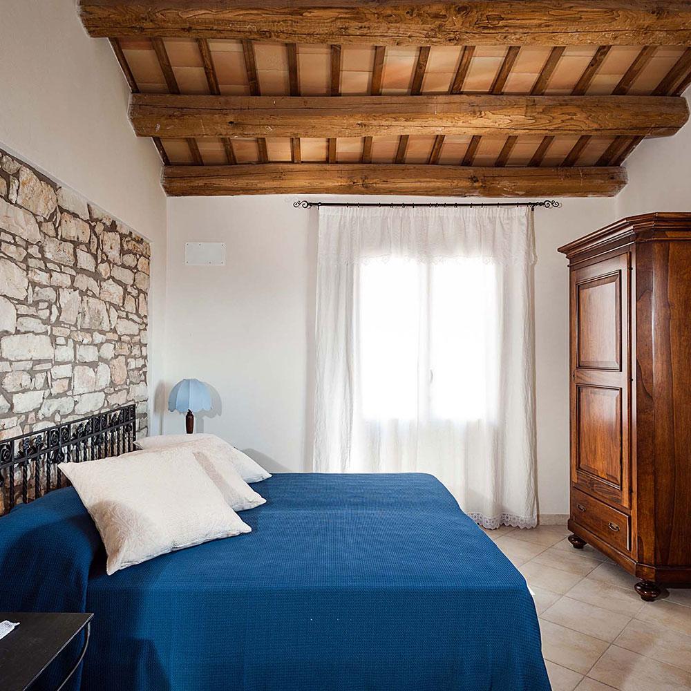 Villa Tangi's bedroom: luxury accommodation in Sicily