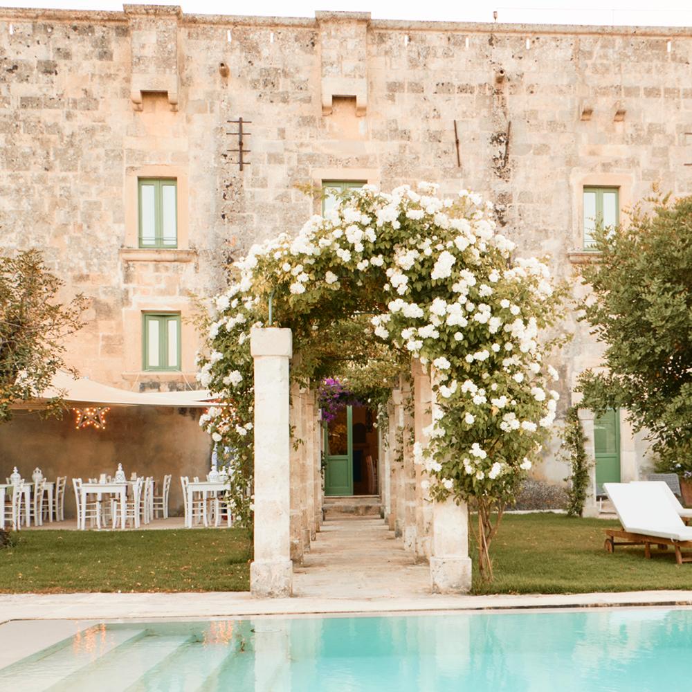 elegant entrance of Palazzo Ducale Venturi Lecce