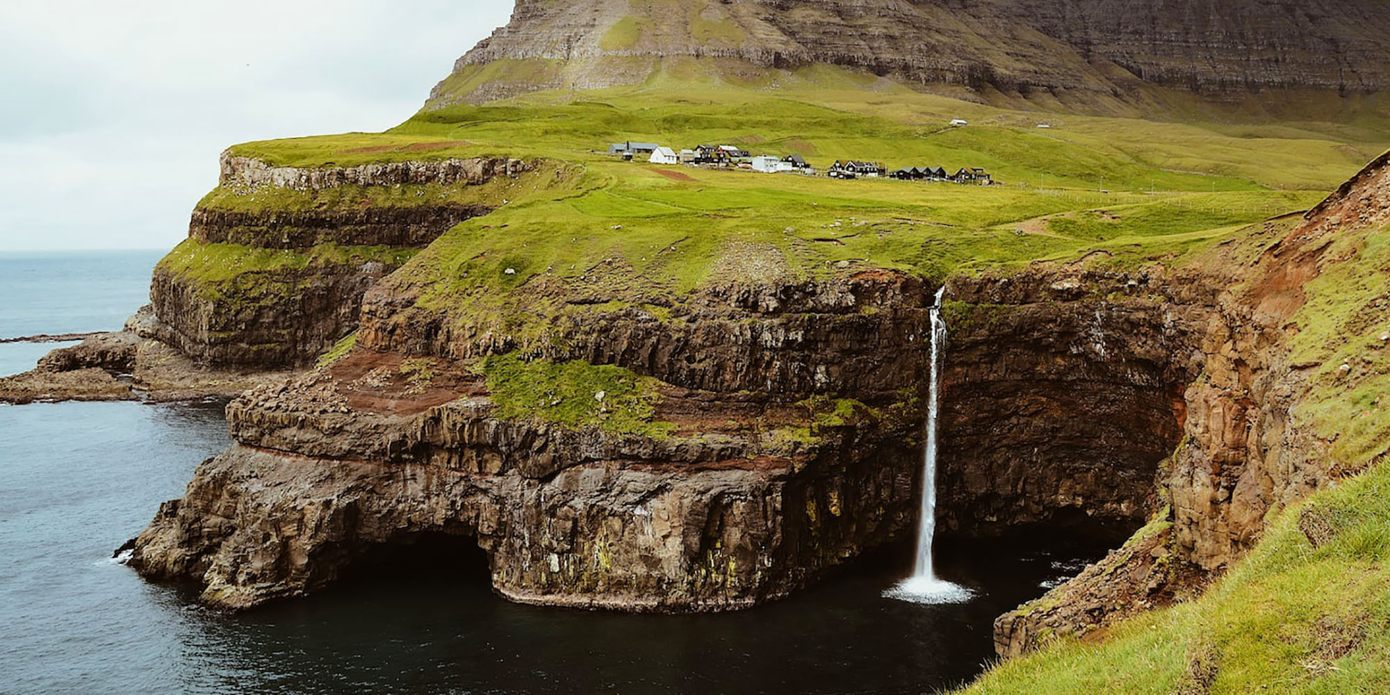Discover the Faroe Islands : amazing waterfall