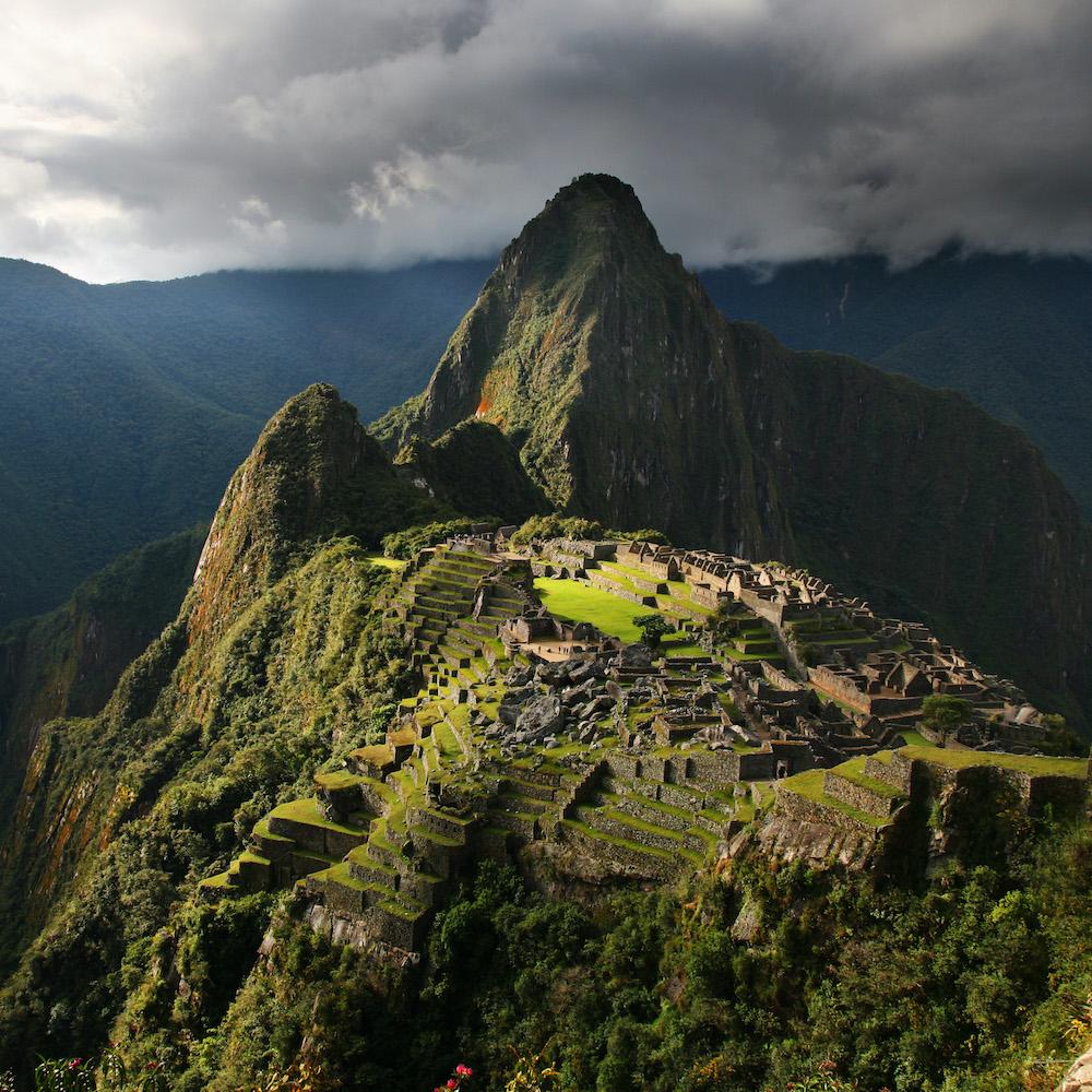 Trip to Machu Picchu Peru: landscape view