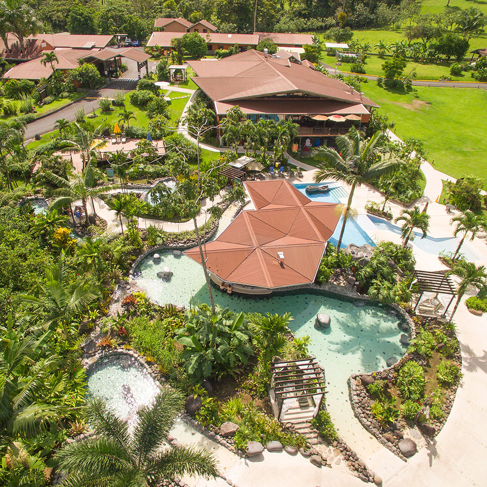 Arenal Springs resort: view from the top