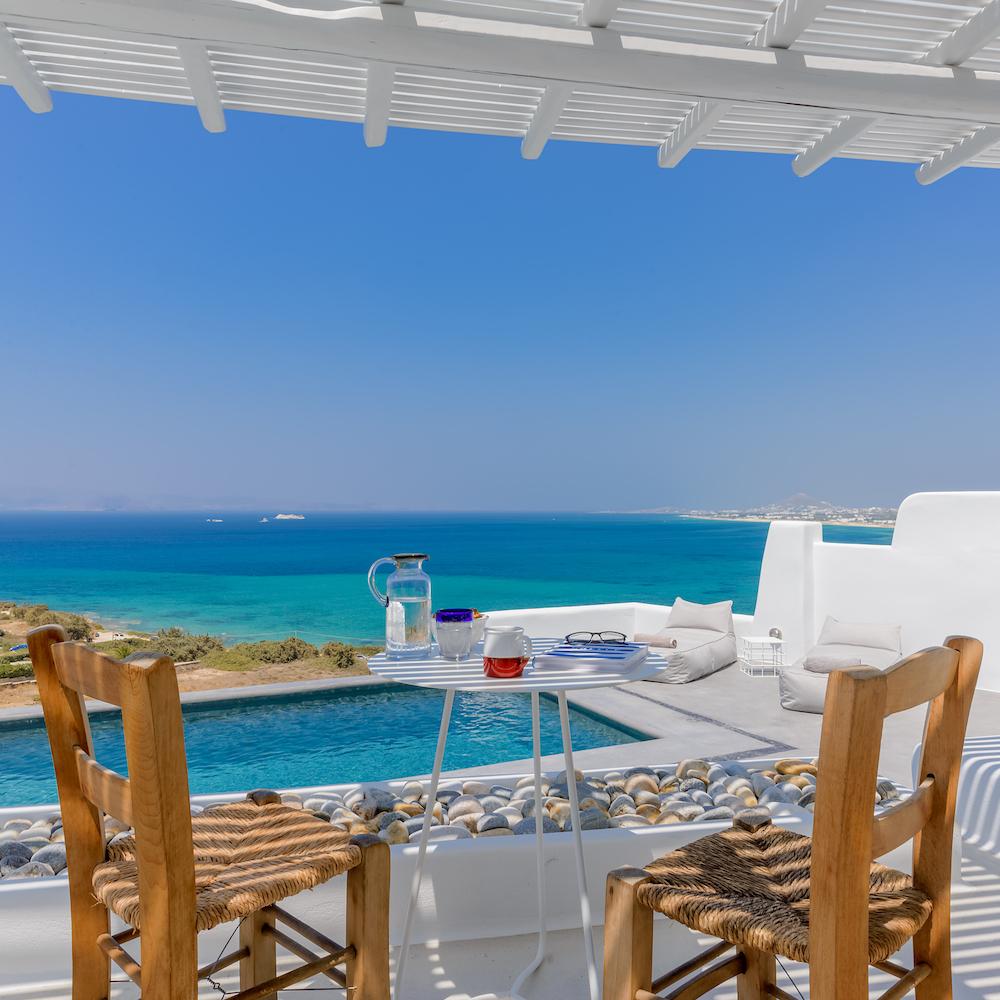 Naxos Villa Holidays: Villa Venti sea view
